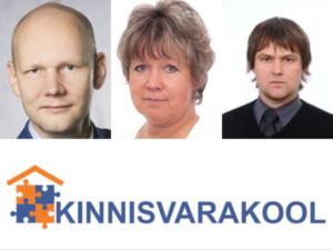 Kinnisvarakooli lektorid: Tõnu Toompark, Evi Hindpere, Marko Sula