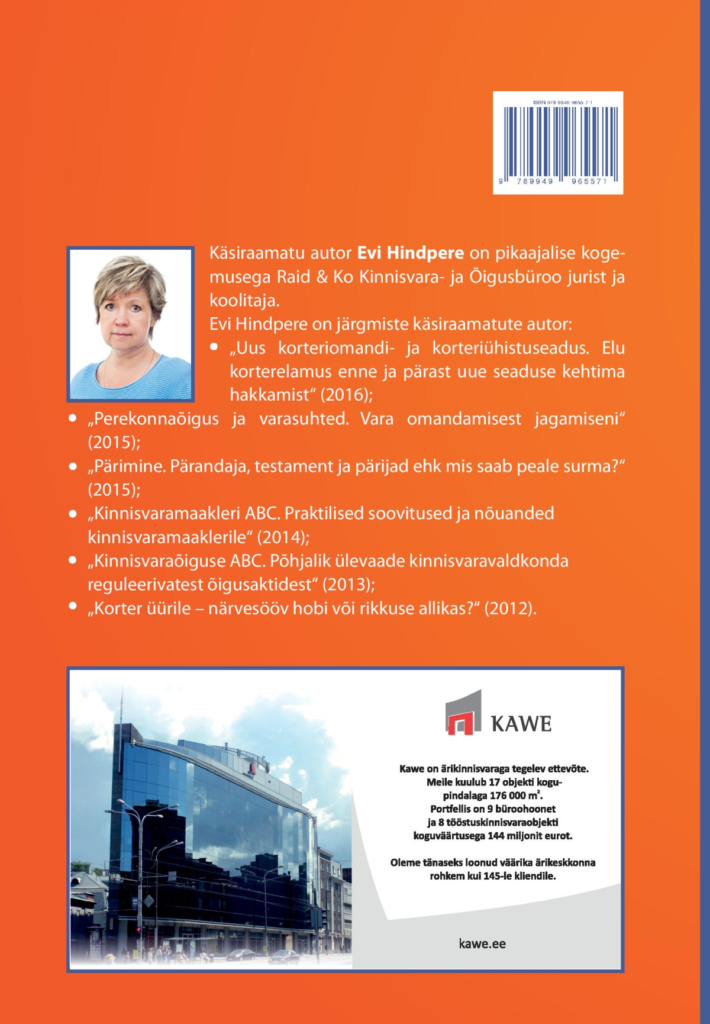 Kinnisvaraõiguse ABC 2. trükk tagakaas